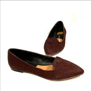 DOLCE VITA Calf Hair Brown Flats Size 8